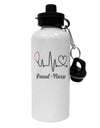 Stethoscope Heartbeat Text Aluminum 600ml Water Bottle