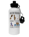 TooLoud Corona Virus Precautions  Aluminum 600ml Water Bottle
