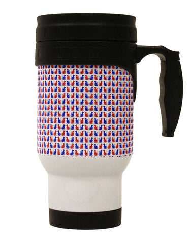 Patriotic Cat Pattern Stainless Steel 14oz Travel Mug All Over Print