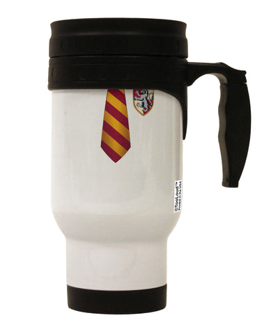 TooLoud Wizard Uniform Red and Yellow Stainless Steel 14oz Travel Mug All Over Print