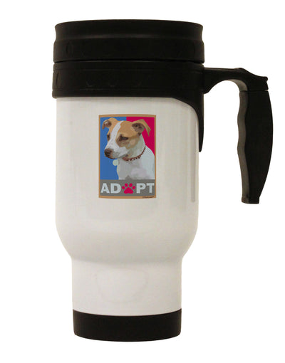 Adopt Cute Puppy Poster Stainless Steel 14oz Travel Mug