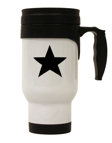 TooLoud Black Star Stainless Steel 14oz Travel Mug