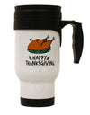 TooLoud Happy Thanksgiving Stainless Steel 14oz Travel Mug