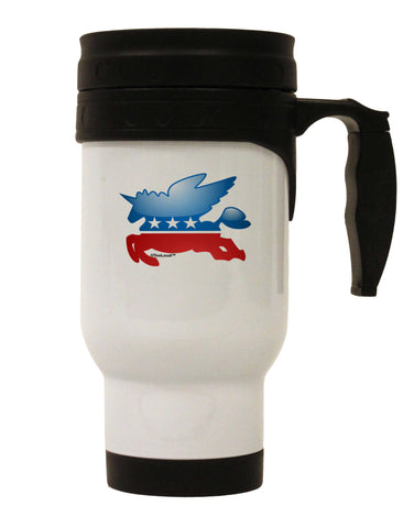 TooLoud Unicorn Political Symbol Stainless Steel 14oz Travel Mug