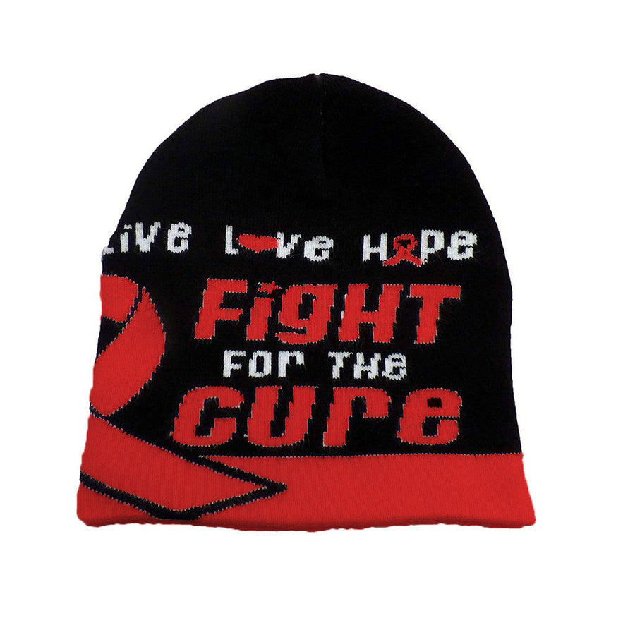 HIV/AIDS Awareness Beanie Skullcap Hat, Walk or Run Cap
