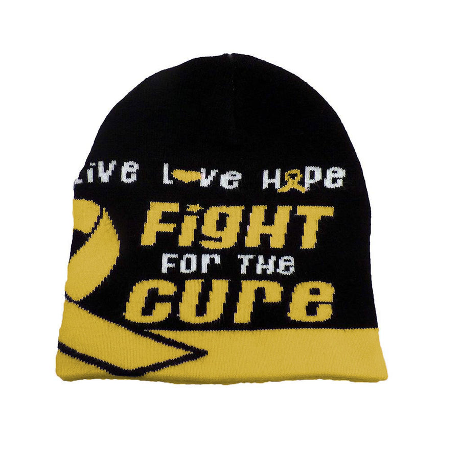 Bone Cancer Awareness Beanie Skullcap Hat, Walk or Run Cap