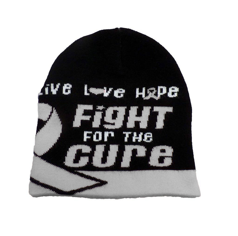 Brain Cancer Awareness Beanie Skullcap Hat, Walk or Run Cap