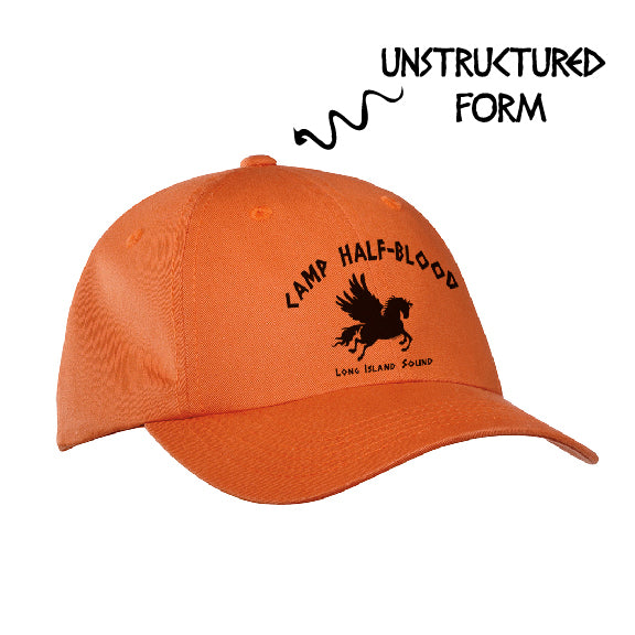 Orange Camp Half Blood Adujstable Brushed Cap