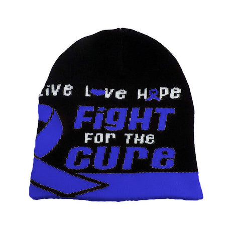 Colon Cancer Awareness Beanie Skullcap Hat, Walk or Run Cap