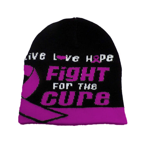 Crohns Disease Awareness Beanie Skullcap Hat, Walk or Run Cap