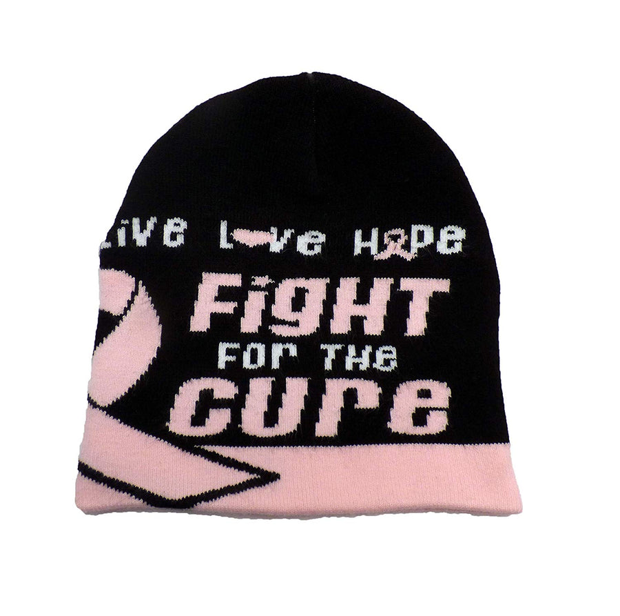 Breast Cancer Awareness Beanie Skullcap Hat, Walk or Run Cap