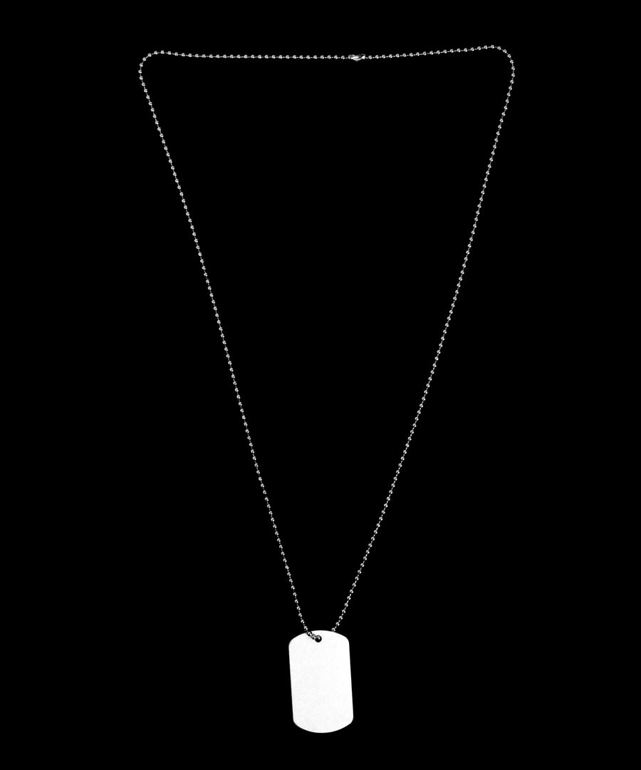 One Lucky Dad Shamrock Adult Dog Tag Chain Necklace - 1 Piece Tooloud