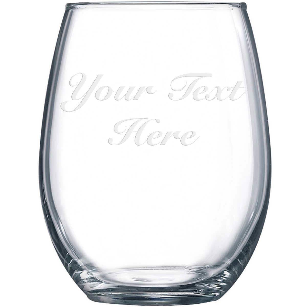 Personalized Etched Stemless Wine Glass 17 2oz