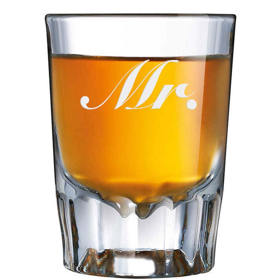 Etched Mr. Shot Glass 1.89oz