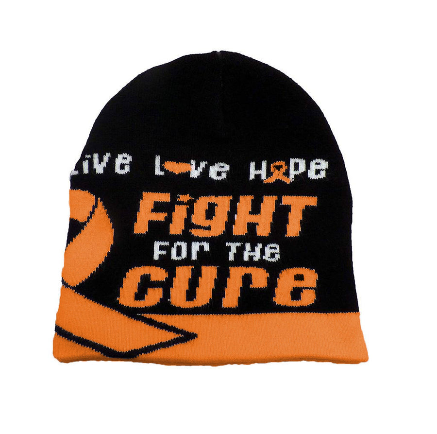 Leukemia Awareness Beanie Skullcap Hat, Walk or Run Cap