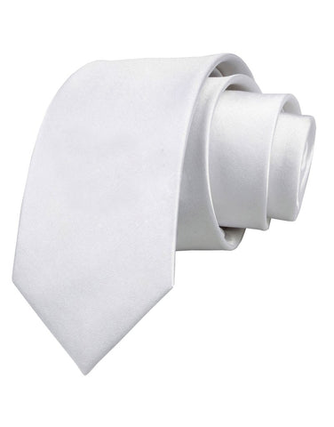 Custom Personalized Image or Text Printed White Necktie