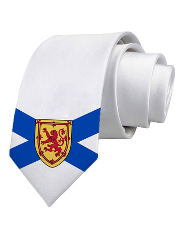 Nova Scotia Flag Printed White Necktie