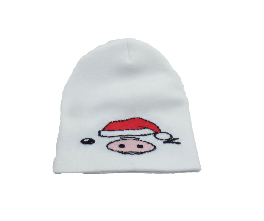 Kyu-T Face Oinkette Santa Hat Girl Pig Adult Knit Beanie Cap Hat