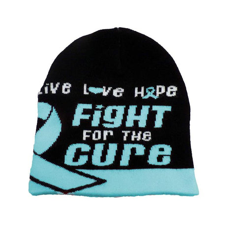 Prostrate Cancer Awareness Beanie Skullcap Hat, Run or Walk Cap