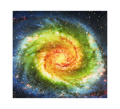 Rainbow Tie Dye Galaxy Printed Pocket Square by TooLoud