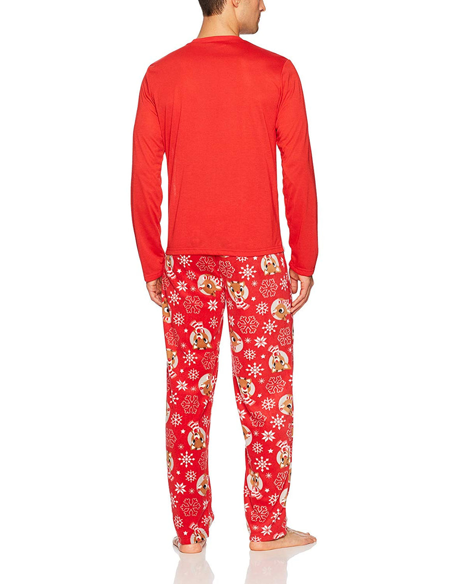 Family Rudolph Reindeer Dad Pajama Set