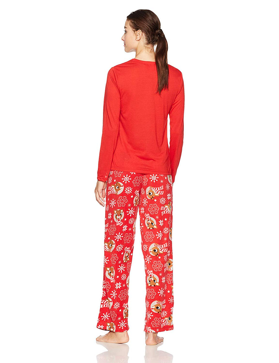Family Rudolph Reindeer Mom Pajama Set