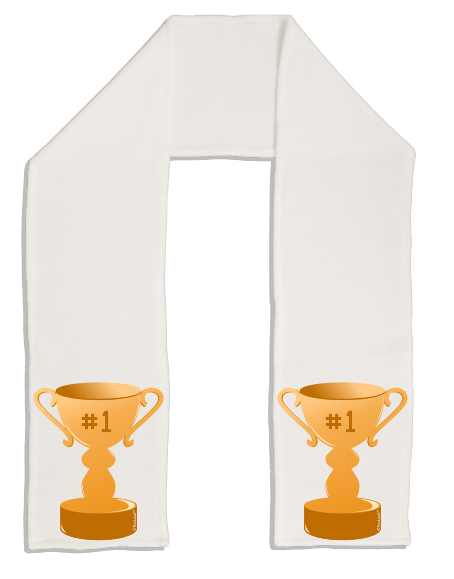 "Number One Trophy Adult Fleece 64"" Scarf by TooLoud"
