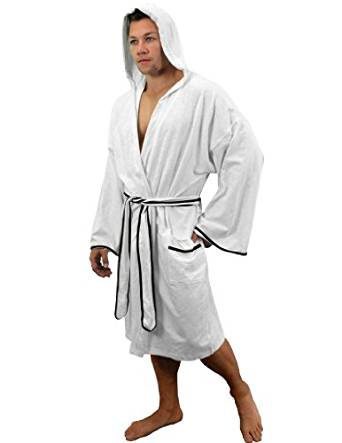 Men's Bathrobe - Cotton Slub Fabric by LOBBO