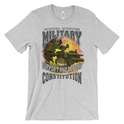 US Military Oath Keepers Support & Defend Constitution Army Navy Air Force Marines T-Shirt Womens Tee women's t-shirt