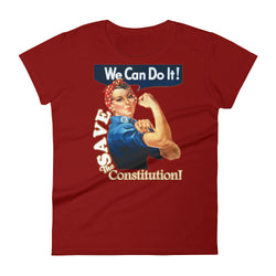 We Can Do It! Save the Constitution! Rosie the Riveter Women's short sleeve t-shirt tee