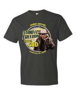 Lavoy Finicum Stand for Freedom, Stand With God Unisex Mens Tee Short Sleeve T-shirt