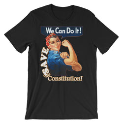 We Can Do It! Save the Constitution! Rosie the Riveter Men's Tee Short-Sleeve Unisex T-Shirt