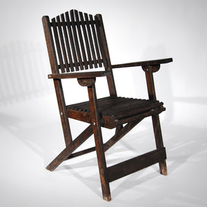 Aged Wooden Outdoor Chair