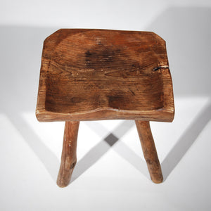 Small Wooden Carved Stool