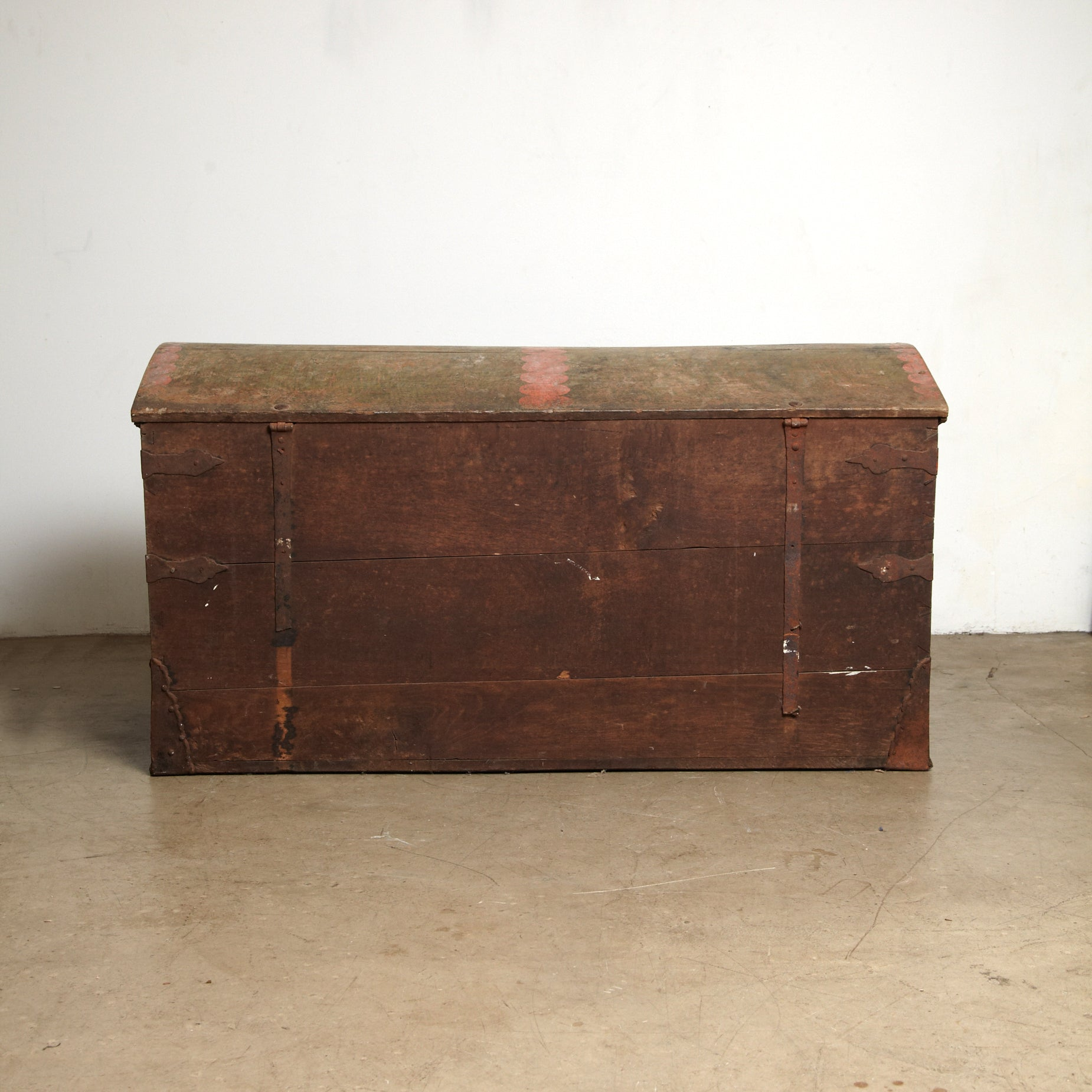 18th Century Danish Baroque chest  of oak later dated  1801