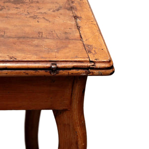 1930s Antique French Carved Leg Flip-Top Game Table