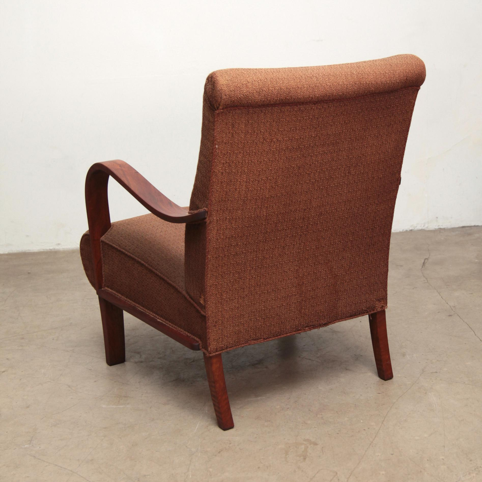 1940s Danish Art Deco Bentwood Club Chairs - a Pair