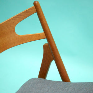 1950s Hans J. Wegner Sawbuck Chairs - Set of 6