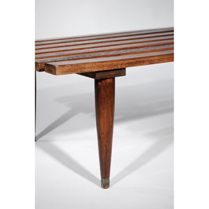 Slated Short Bench