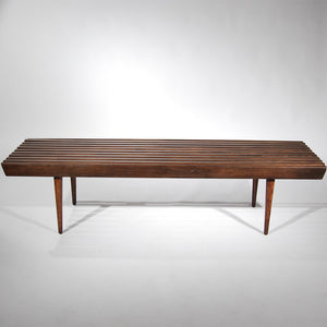 Slated Wodden Bench (Aged Walnut)