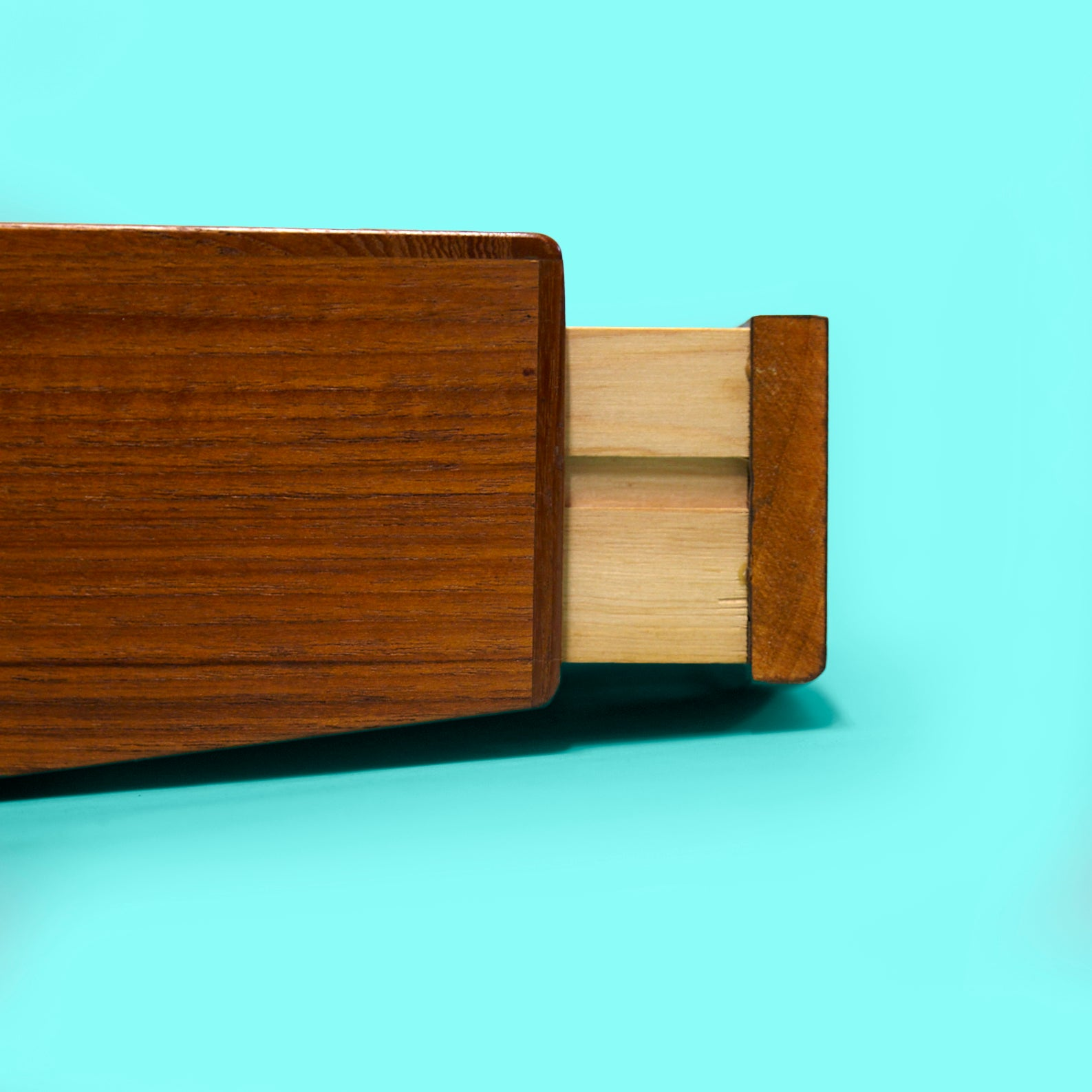 Pair of Danish Floating teak Nightstands with Drawers from the 1960s