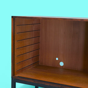 Midcentury Danish Modern Credenza or Cabinet in Rosewood with Black Legs