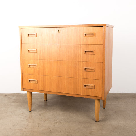 Mid-century Danish lowboy  four drawer dresser