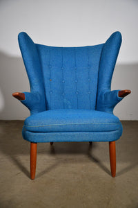 "1960s Vintage Svend Skipper for Skipper Mobler Model 91 ""Papa Bear"" Chair"