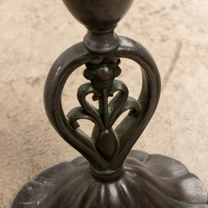 Just Andersen Bronze Candlesticks, Denmark, 1920s