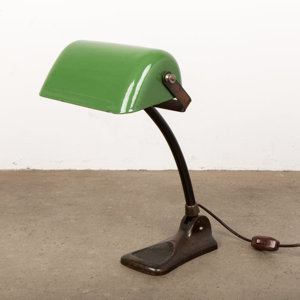 Danish art nouveau bankers desk lamp