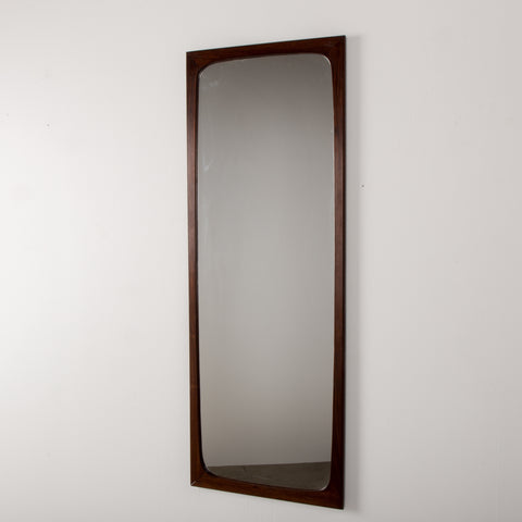 Danish rosewood Mirror from Aarhus Glasimport and Glassliberi, 1960s