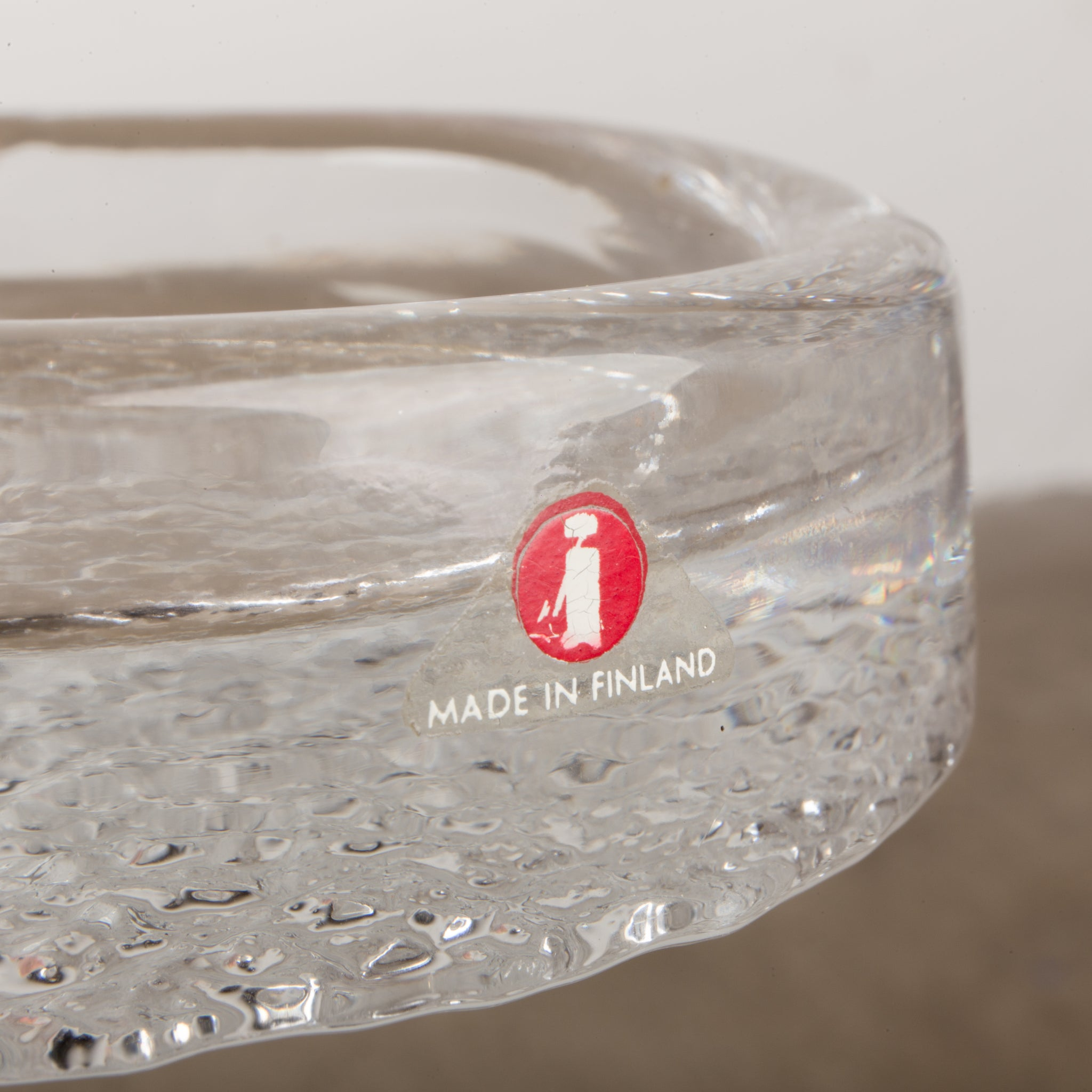 Crystal ashtray made in Finland