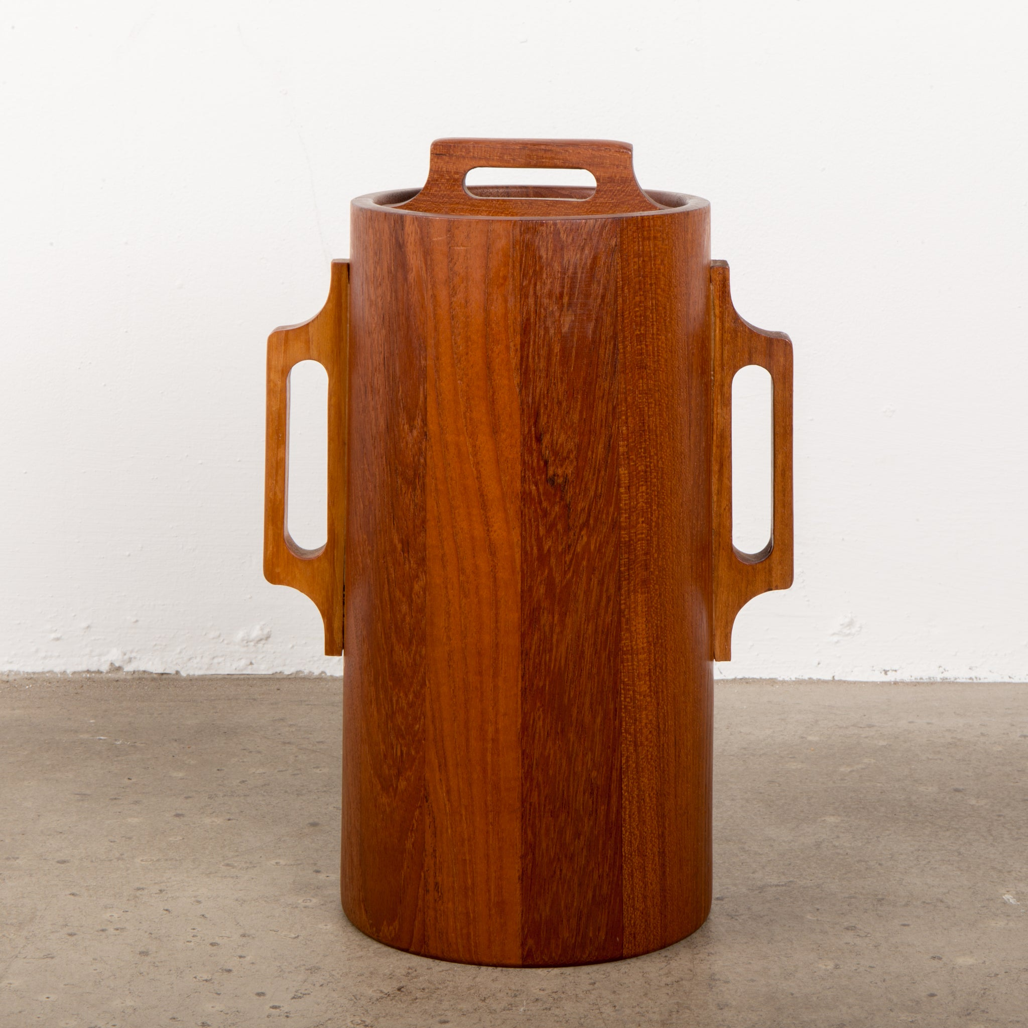 Dansk Staved Teak Banded Ice Bucket by Jens Quistgaard IHQ