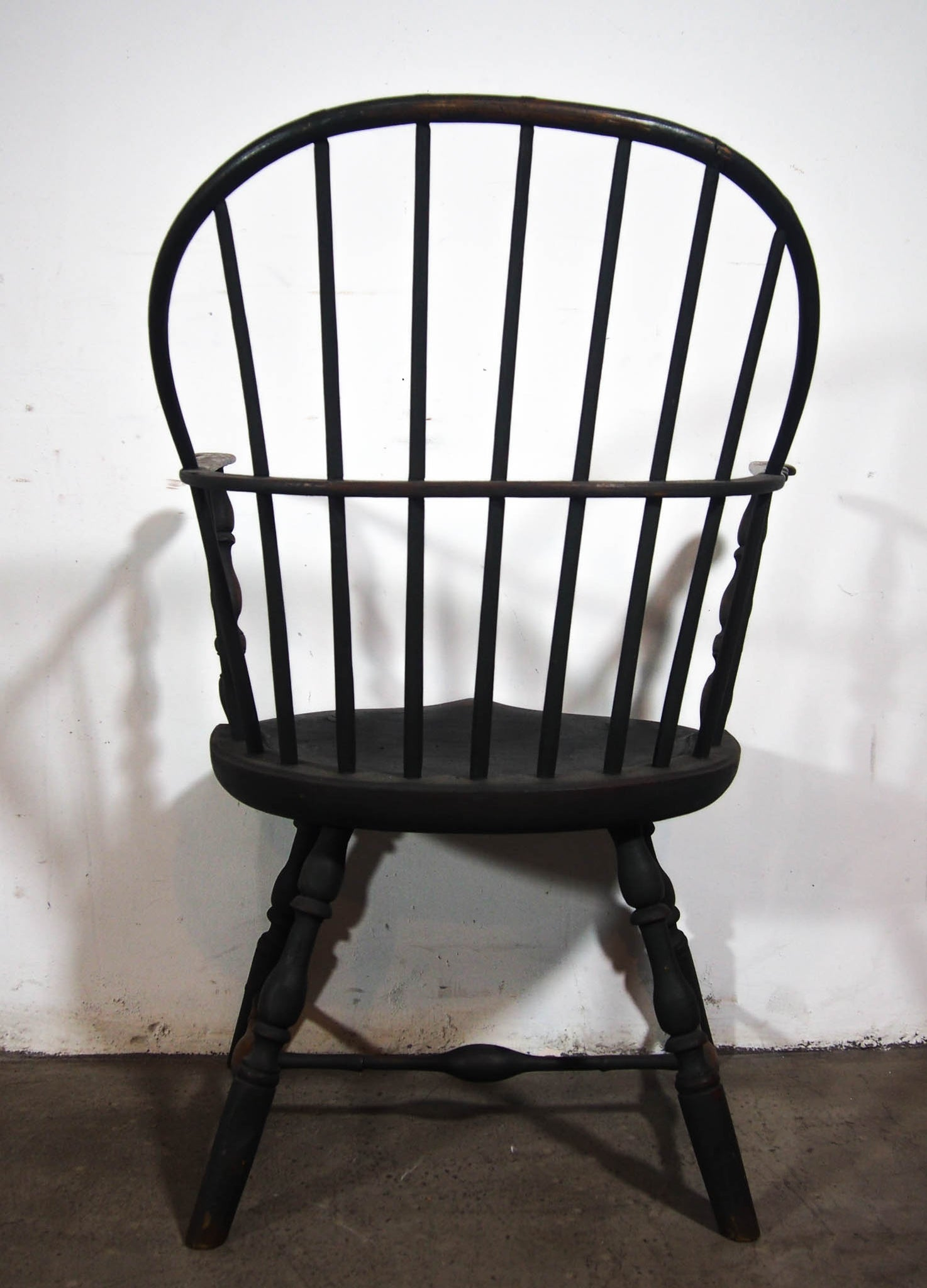 18th Century, Windsor Chair with Extended Arms and Sack Back from Peg Krupp Private Collection 18th Cent. Windsor Chair #2